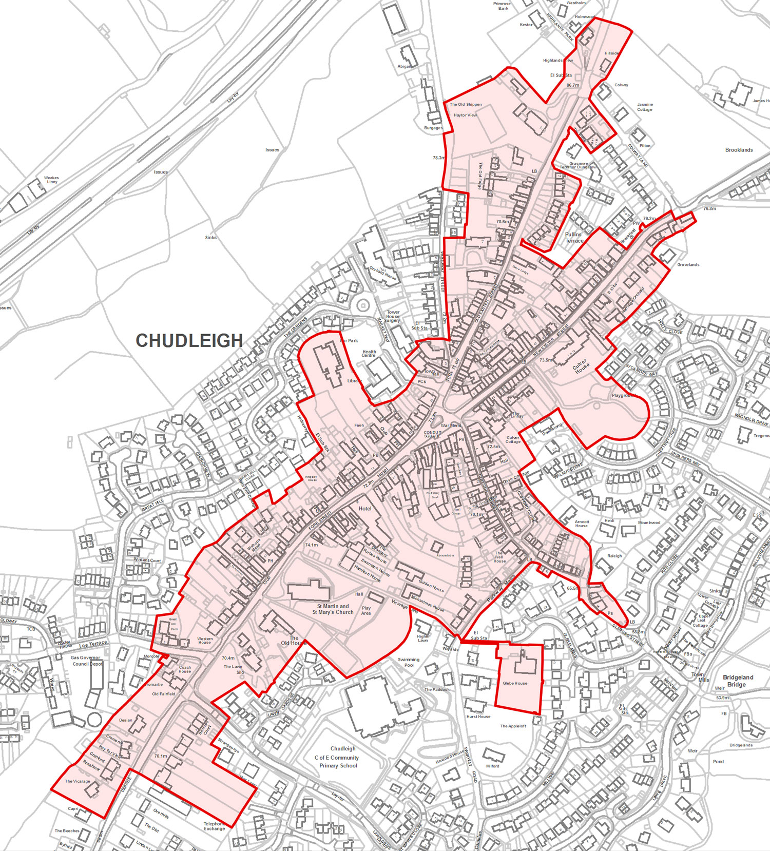 Chudleigh Conservation Area Map