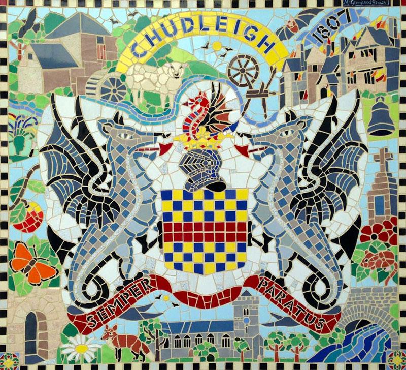 Chudleigh, mosaic, devon
